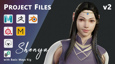 Shenya - Stylized Fantasy Female Character