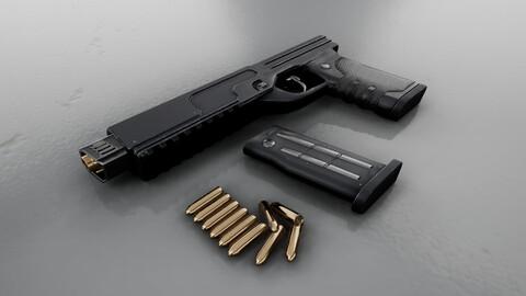 Sci-fi Heavy Handgun