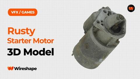 Rusty Starter Motor Raw Scanned 3D Model