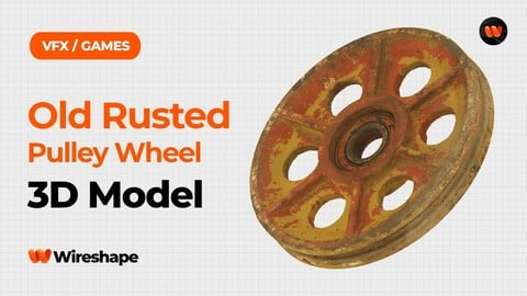 Old Rusted Pulley Wheel Raw Scanned 3D Model