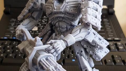 Mech Samurai  3D Printable 1:10 scale