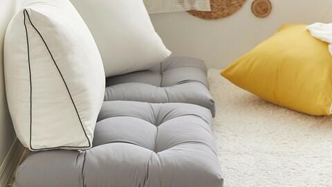 Zipsooni Sleeve Oxford Triangular Back Cushion