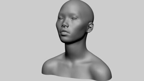 Female Head Basemesh