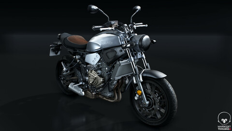 2016 Yamaha XSR700 | Real-time PBR Motorcycle
