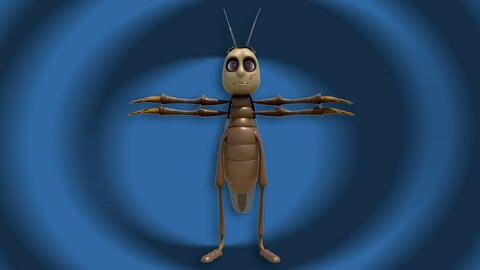 Cartoon cockroach 3D model