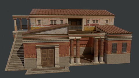 Three types of house modeling and other decorative props