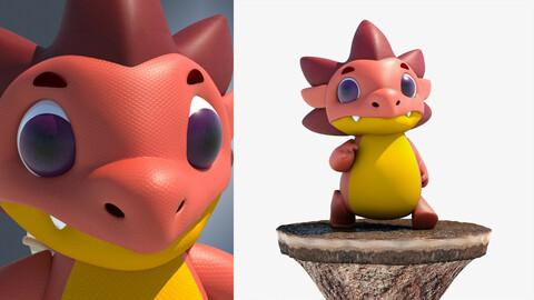 3D 3d Cartoon Dragon