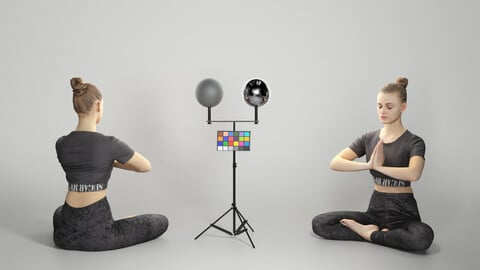 Woman practicing yoga 301