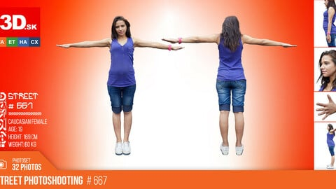 T-POSE & DETAILS | Female Photo References #667