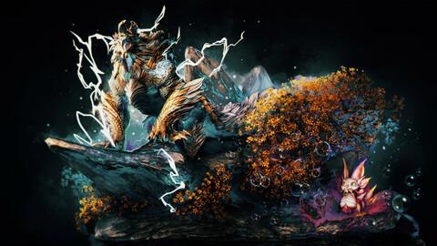 Monster Hunter - Zinogre & Mizutsune