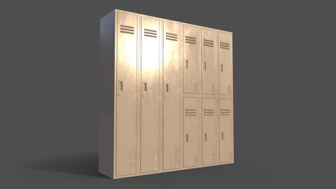 PBR School Gym Locker 06 - White