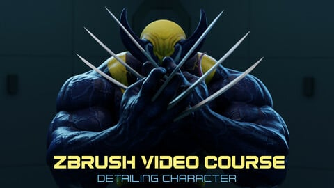 Zbrush video courses - Venom Symbiote - Character detailing