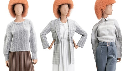 Female mannequins 3 pozes