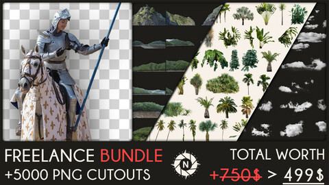 Freelance Bundle: +5000 PNG Cutouts + Future packs for FREE