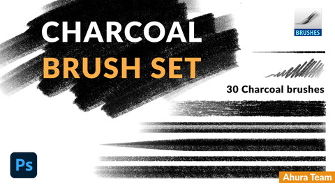 Charcoal brush set