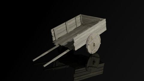cart medieval village