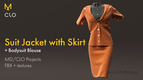 Suit Jacket with Skirt | Female Outfit