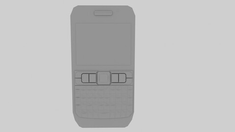 Mobile Phone 3D Model -  QWERTY Keyboard