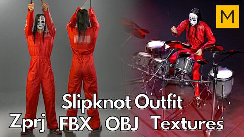 Marvelous Designer + Clo3d + OBJ + FBX + Texture : Slipknot boiler suit
