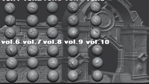 Stone Cracks Brushes 10 VolumeS