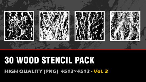 """"""" 30 Wood Stencil Pack"""" vol. 3"""