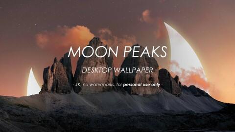 Moon Peaks - Single Desktop Wallpaper