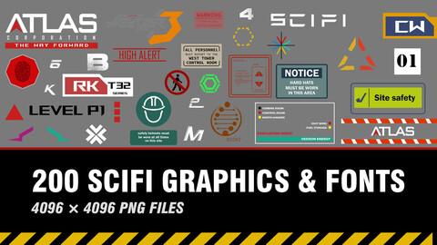 """ 200 SCIFI Graphics & Fonts """