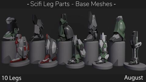 Scifi Leg Parts - Base Meshes