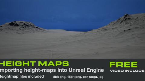 Free Terrain Heightmap for UE4