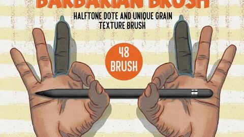 Barbarian grain texture brush ps