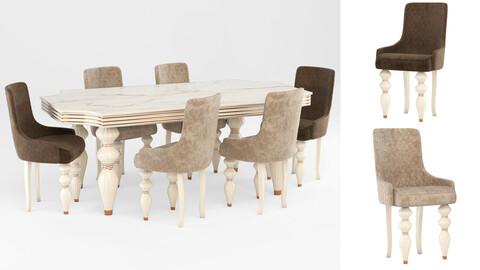 Brabbu chair with table