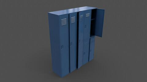 PBR School Gym Locker 07 - Blue Dark