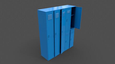PBR School Gym Locker 07 - Blue Light