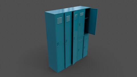 PBR School Gym Locker 07 - Blue Sea