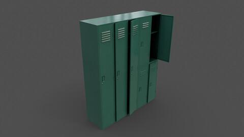 PBR School Gym Locker 07 - Green Dark