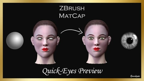 ZBrush MatCap: Quick-Eyes Preview (FREE)