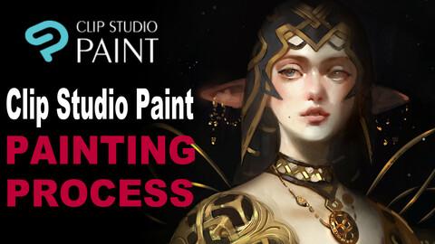 Hildur - Full video painting process in Clip Studio Paint