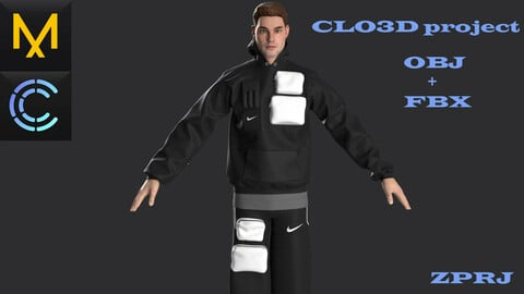 New concept Marvelous\Clo3D.Outfit.Nike
