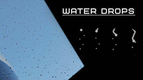 Water drops. | Animated