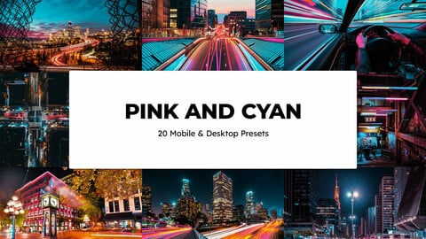20 Pink and Cyan LUTs and Lightroom Presets