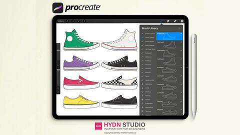 Shoes Design Set Design Procreate Stamp Brushes