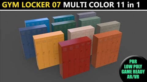 PBR School Gym Locker 07 - Multi color Pack
