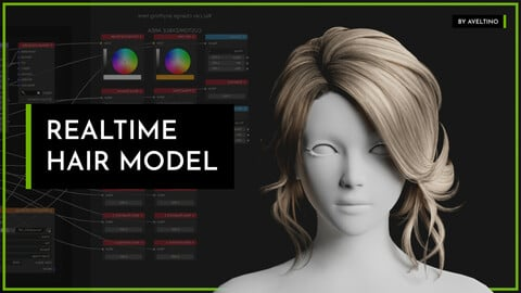 Realtime Hair Model - Hairstyle 001