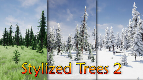 Stylized Trees Pack 2