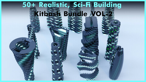 50+ Realistic, Sci-Fi Building Bundle VOL-2