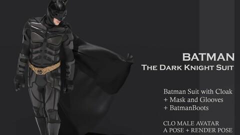 BATMAN THE DARK KNIGH SUIT - MD/ CLO3D project
