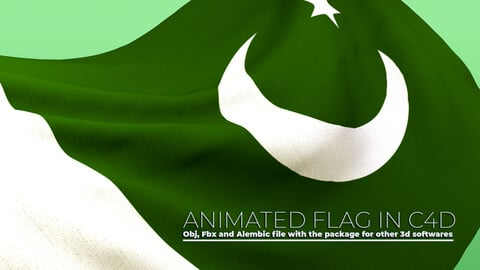 Animated Flag- Wired Transitional Flag 3D
