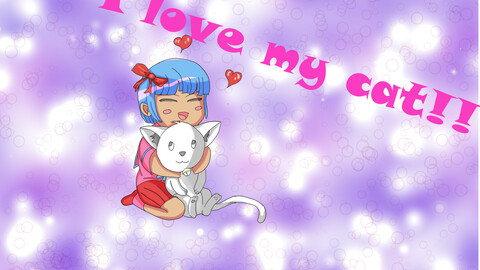 Chibi and kitten