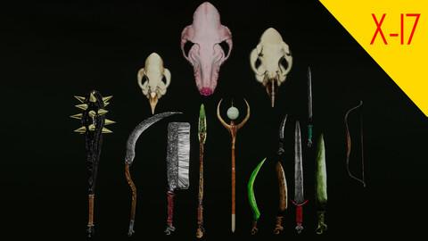 bone goblin weapon pack