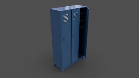 PBR School Gym Locker 08 - Blue Dark